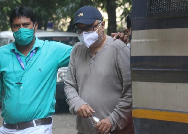 Partho Dasgupta, the former chief executive officer of BARC India outside the Killa court on Friday.(Anshuman Poyrekar/HT Photo)