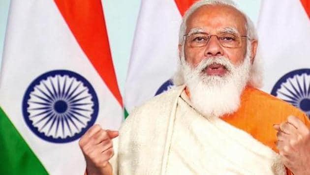 PM Modi will launch the Ayushman Bharat Pradhan Mantri Jan Arogya Yojana (AB-PMJAY) SEHAT scheme for Jammu and Kashmir on Saturday.(PTI photo)