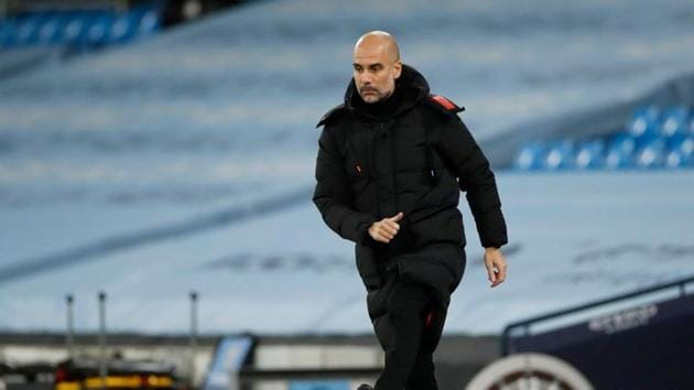 Manchester City manager Pep Guardiola(Pool via REUTERS)