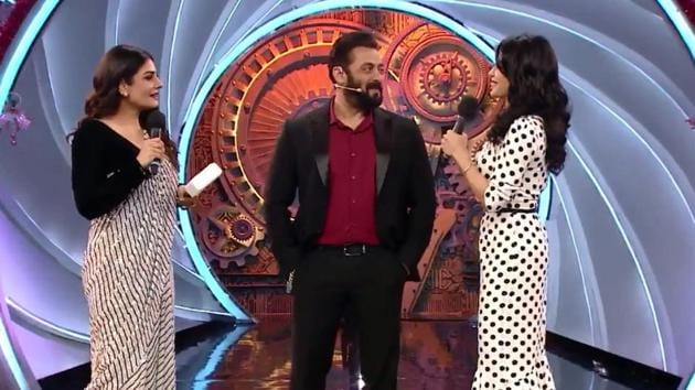Salman Khan will share the Bigg Boss 14 stage with Raveena Tandon and Jacqueline Fernandez.