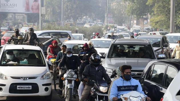 The latest extension was done to help citizens use their private modes of transportation while maintaining social distancing(Harsimar Pal Singh/Hindustan Times)
