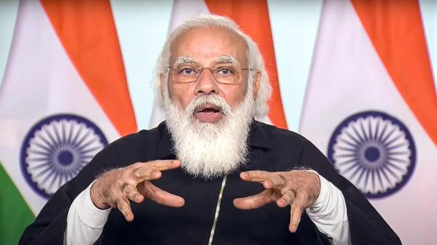 Strongly highlighting the need for cleanliness and the government's Swachh Bharat Mission, the Prime Minister said that a resolution should be taken to not litter and rid the nation of single-use plastic.(PTI Photo)