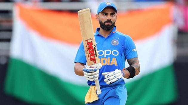 Virat Kohli was named the ICC Male Cricketer of the Decade(Getty Images)