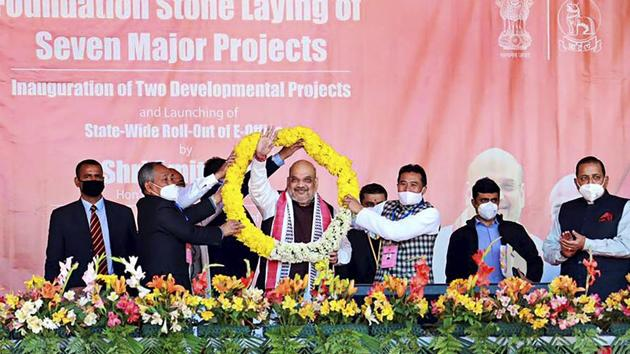 Union Home Minister Amit Shah.(PTI)