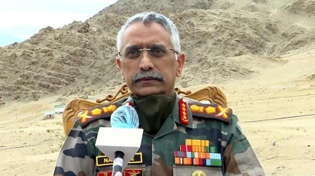 File photo: Army chief General Manoj Mukund Naravane.(ANI)