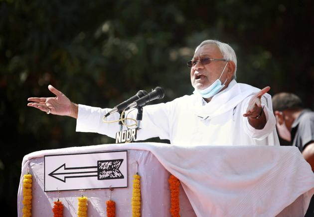 Nitish Kumar had recently quit from the post of party chief and handed over JD(U) to party leader Ramchandra Prasad Singh.(PTI)