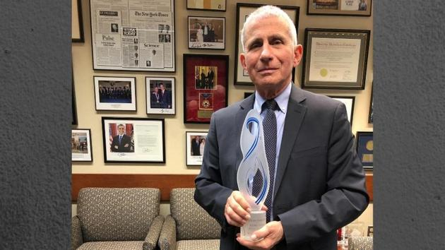 Eighty-year-old Dr Fauci, the Director of the National Institute of Allergy and Infectious Diseases, US, is one of the recipients. He and his task force were among the first ones to realize the seriousness of this pandemic.