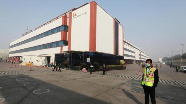 The Cargo Terminal 2 of the Indira Gandhi International Airport, which according to the officials will be used as a Covid-19 vaccine handling and distribution center, is seen during the media preview in New Delhi, India.(Reuters file photo)