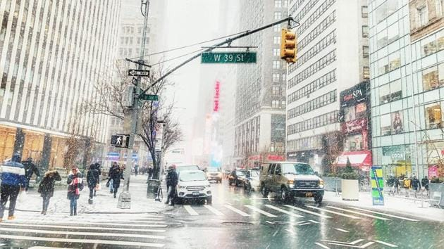 A winter day in New York City. (representational image)(Pixabay)