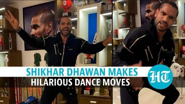 Cricketer Shikhar Dhawan and his two dogs performed to Shehnaaz Gill's popular dialogues. The dialogues have been turned into an earworm of a rap by Yashraj Mukhate. Yashraj rose to fame with his Rasode Mein Kaun Tha and Biggini Shoot rap. The India cricketer can be seen dancing as his dogs jumped up all around him in the video. A happy Shehnaaz shared the video on her timeline, liberally covering it with emojis. The dialogues, which the Punjabi singer said in heat of the moment, are from Bigg Boss 13. Yashraj has added dhol beats to the video and a Shah Rukh Khan's scene from Mohabbatein. Earlier, Raveena Tandon and her daughter Rasha had also performed to the rap.