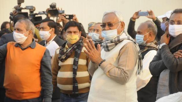 Bihar Chief Minister Nitish Kumar has insisted that the JD (U) is united.(Santosh Kumar/HT PHOTO)