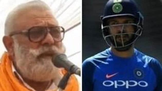 Photo of Yograj Singh (L) and former Indian all-rounder Yuvraj Singh (R)(HT Collage)