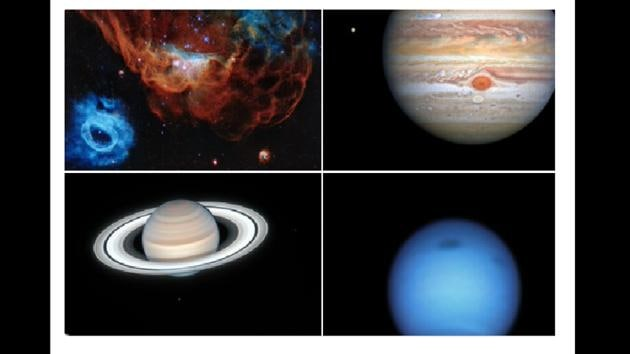 The images were tweeted by the NASA Hubble Telescope's official handle.(Twitter/@NASAHubble)
