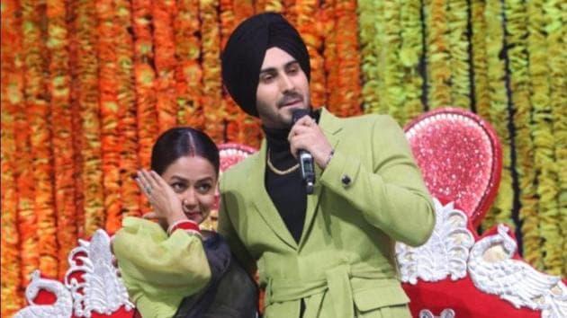 Neha Kakkar and Rohanpreet Singh on Indian Idol.