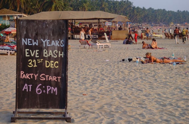 A large number of tourists were seen in Goa ahead of the new year celebrations.(Rediff)