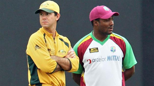 Ricky Ponting with Brian Lara in 2007.(Getty Images)