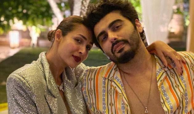 Malaika Arora poses with boyfriend Arjun Kapoor.
