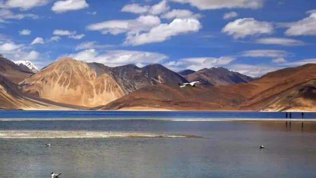Heights on both banks of the Pangong lake have been at the centre of the border row between India and China. (AP photo)