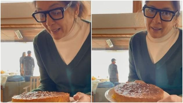 Bake an orange cake just like Neena Gupta(Instagram/masabagupta)