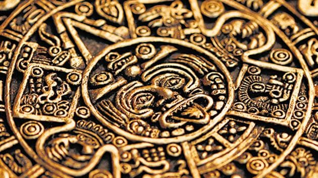 Ancient calendars could be intricate, beautiful, but confusing. Above is a section of the ancient Mayan calendar.(Shutterstock)