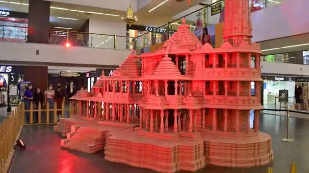 A model of the Ram Temple that will be built in Ayodhya.(Representational Photo)