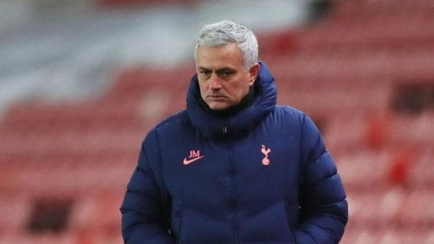 Tottenham Hotspur manager Jose Mourinho.(Action Images via Reuters)