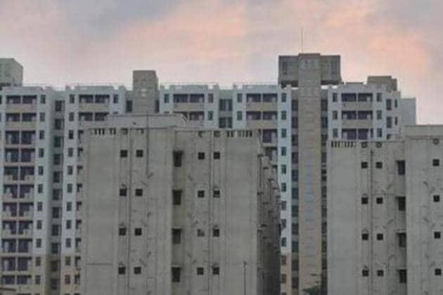 A view of Delhi Development Authority (DDA) flats at Narela iin September 2018.(Amal KS/HT FILE PHOTO)