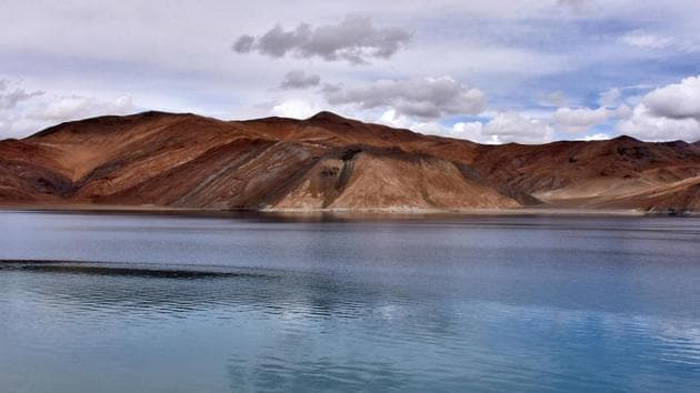 Indian army's first order of the year has been placed with a domestic shipyard as part of the Atmanirbhar Bharat campaign. In picture - Pangong Tso lake in Ladakh region.(Reuters File Photo)