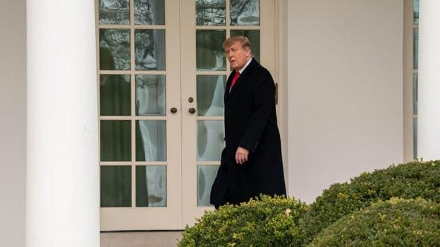 US President Donald Trump arrives at the White House in Washington, DC, US.(Bloomberg)