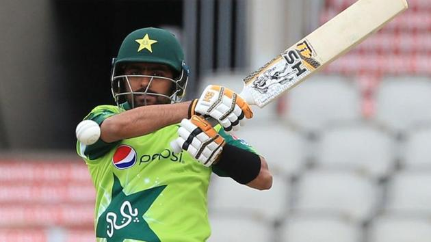 Babar Azam in action.(REUTERS)