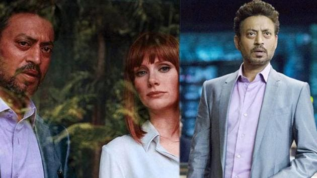 Irrfan and Bryce Dallas Howard in a still from Jurassic World.