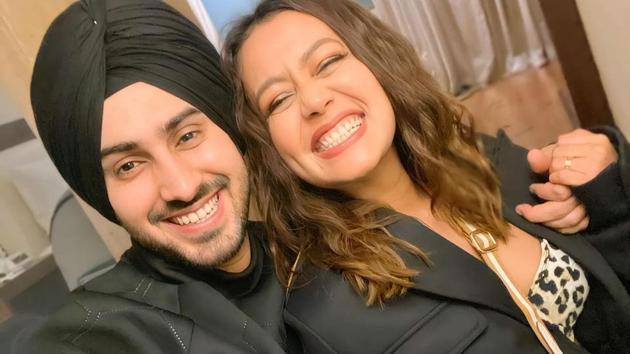 Neha Kakkar styled herself and Rohanpreet Singh on New Year's Eve.