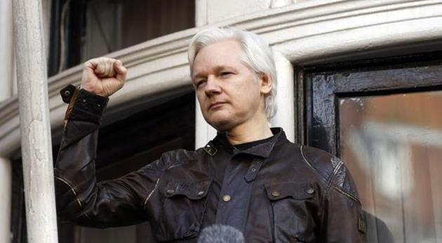 US prosecutors indicted the 49-year-old Julian Assange on 17 espionage charges and one charge of computer misuse that carry a maximum sentence of 175 years in prison.(AP file photo)