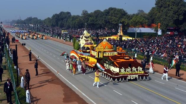 The parade this year will be shorter, involve fewer participants and only a fourth of the usual number of spectators will be allowed at Rajpath, with the ceremonial event being curtailed because of the Covid-19 pandemic. (Image used for representation).(HT PHOTO.)