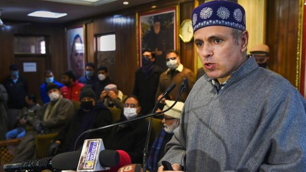 """Omar Abdullah said that the coronavirus has been """"far too disruptive"""" and would be willing for vaccinations if it would restore normalcy.(PTI)"""