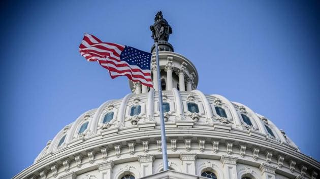 A file photo of the US Capitol building in Washington, DC.(AFP)