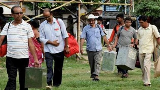 Officials said a proposal of voting for panchayat polls through EVMs is also under consideration of the state government and awaiting nod from the cabinet. (Image used for representation).(PTI PHOTO.)