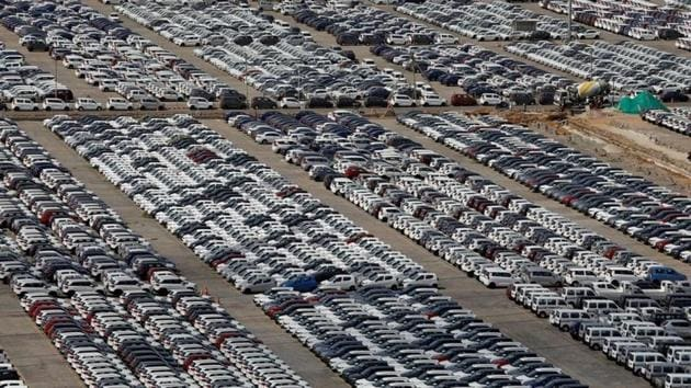 Cars are seen parked at Maruti Suzuki's plant at Manesar, in the northern state of Haryana, India.(Reuters/ File photo)