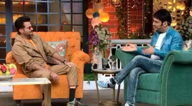 Anil Kapoor during his appearance on The Kapil Sharma Show.