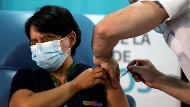 Argentina started its mass vaccination campaign with the Russian Sputnik V vaccine on Tuesday. Earlier in December, it received the first batch of 300,000 doses of the jab.(Reuters file photo)