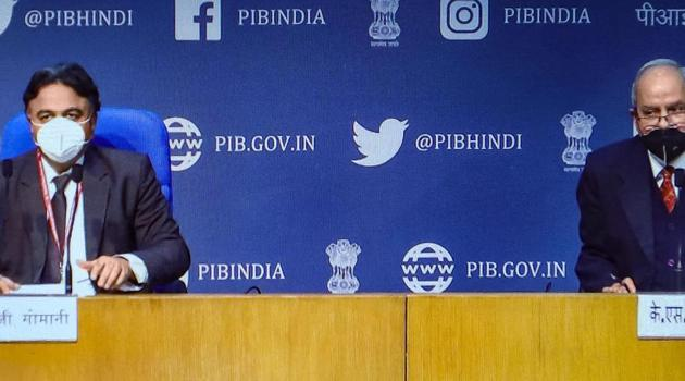 Drugs Controller General of India (DCGI) Dr V G Somani during a press conference to announce the approval of Oxford COVID-19 vaccine Covishield, manufactured by the Serum Institute, and indigenously developed Covaxin of Bharat Biotech for restricted emergency use in the country, in New Delhi.(PTI)