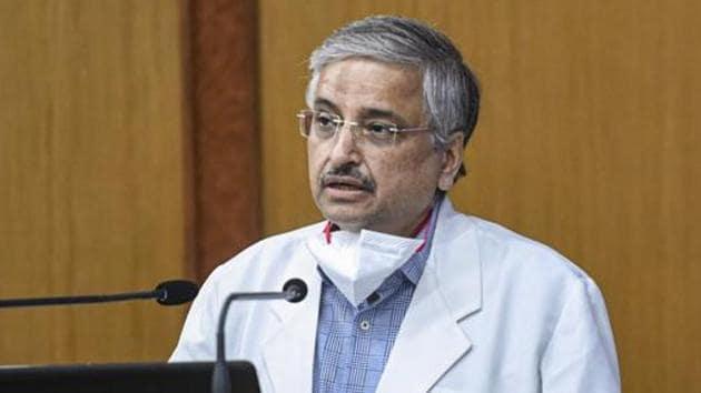 AIIMS Director Dr Randeep Guleria.(PTI)