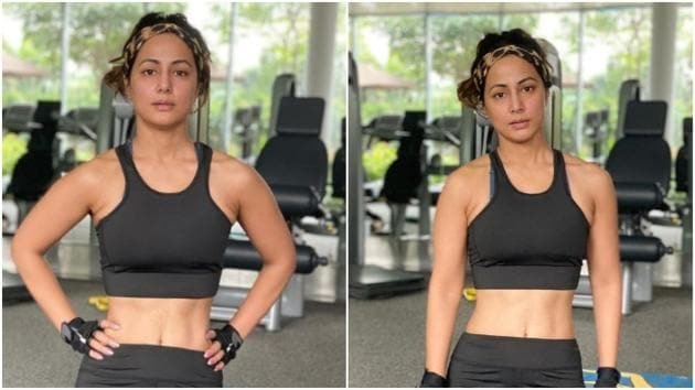 Hina Khan flaunts washboard abs in new post(Instagram/realhinakhan)