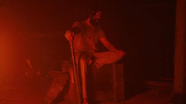 Yash in a new still from KGF: Chapter 2.