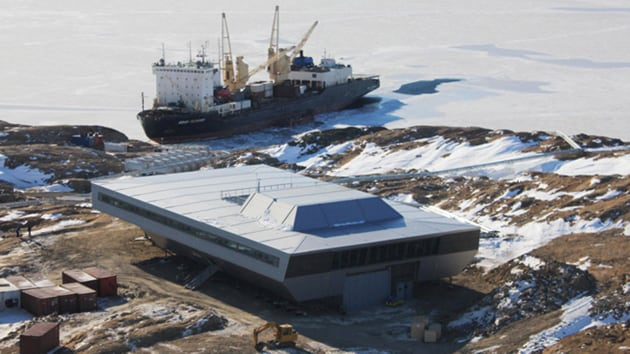 The team was given a formal send off at the Mormugao Port Trust (MPT) in Vasco town of South Goa on Monday by senior officials of the National Centre for Polar and Ocean Research , the Indian Oil Corporation (IOC) and the India Post, which has released a special stamp to mark the occasion. In picture - Indian research base Bharati in Antarctica.(NCPOR)