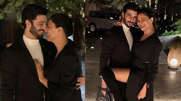 Sushmita Sen has shared two romantic pictures with boyfriend Rohman Shawl.