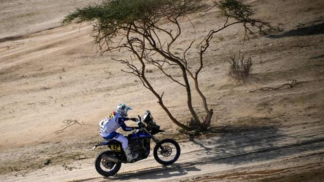French rider Adrien Van Beveren powers his Yamaha during the prologue near Jeddah, on January 2. The Dakar is no stranger to tragedy, with last year's rally claiming the lives of motorcyclists Paulo Goncalves and Edwin Straver. In total, 26 participants, including 21 motorcyclists, have been killed since the inaugural rally in 1979. (Franck Fife / AFP)