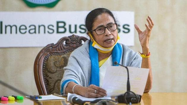 West Bengal chief minister Mamata Banerjee on Monday that her government will soon convene a session of the state assembly to pass a resolution against the three farm laws passed by Parliament(PTI)