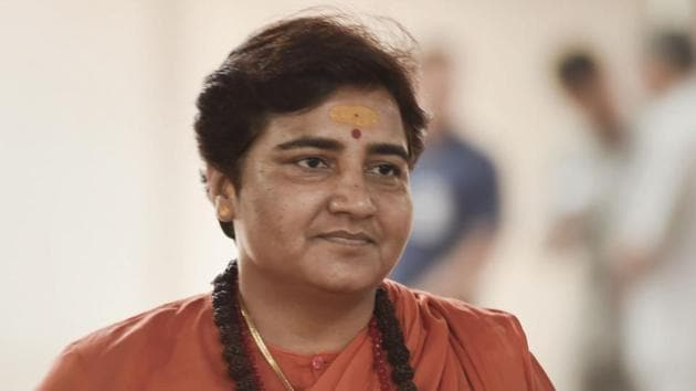 Bharatiya Janata Party (BJP) MP Pragya Singh Thakur, accused in the 2008 Malegaon blast case, appeared before the Special NIA Court in Mumbai on Monday.(PTI)