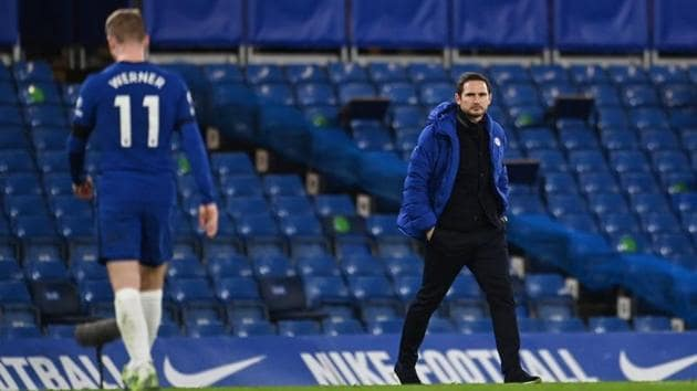 Chelsea manager Frank Lampard.(Pool via REUTERS)